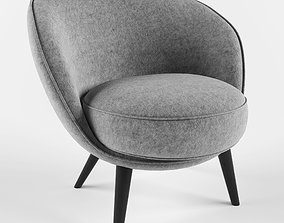 furniture 3D model Felt chair