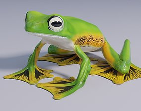 3D model Wallaces Flying Frog - Animated