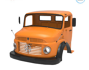 3D print model Mercedes-Benz Truck 1924-2624 Cabin - 2