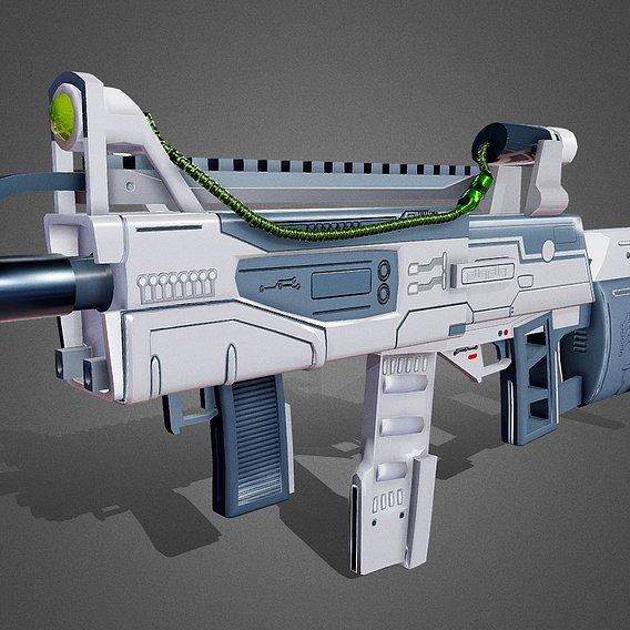 Futuristic Assault Rifle