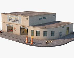 Car Repair Workshop 3D asset