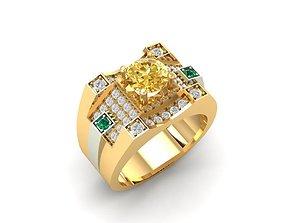 802 Korea Diamond Men ring 3D printable model