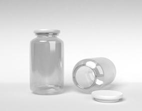 Medicine bottle glass 3D
