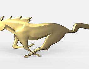 medallion 3D printable model Horse pendant