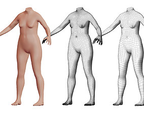 3D Character 04 High and Low-poly - Body Female