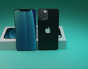 iphone low poly 3d model
