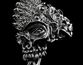 3D print model Badass Gothic Punk Skull Ring