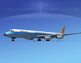 Douglas DC-8-63 Viasa 3D