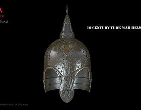 10 century Turkish war helmet design 3D model