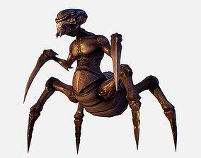 Game Character Arthropod Alien Hornbeam Bug 3D asset