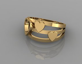 LOVE RING 3D print model new