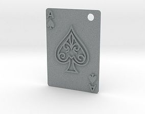 Ace of Spades Pendant 3D printable model