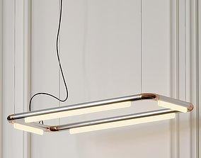 Pipeline CM4 LED Linear Suspension Light By Caine 3D model
