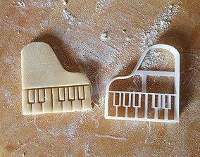 Piano cookie cutter 3D print model