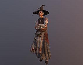 Witch Baba Yaga 3D asset