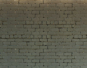 3D model Brick wall Old brick 23