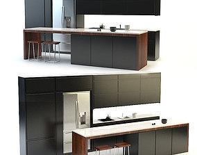 3D model Kitchen Black