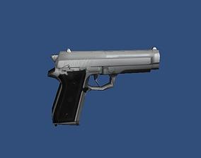 9mm Heavy Pistol 3D model