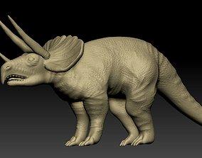 3D model herbivorous triceratops