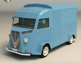 3D model low-poly Low Poly Transporter Van 02