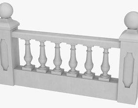 3D Balustrade concrete