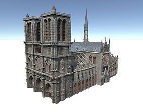 3D model game-ready Notre Dame