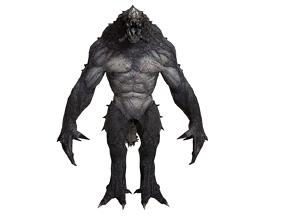 3D model rigged monster homme
