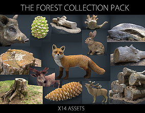 3D model game-ready The Forest Collection Pack