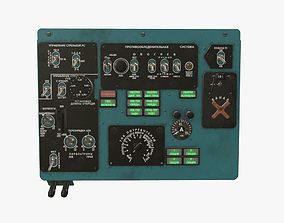 Mi-8MT Mi-17MT Left Overhead Panels Board 3D model 1