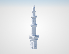 prophet Muhammad Mosque tower 3D model