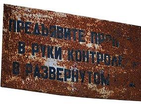 Street Sign USSR 01 02 3D model