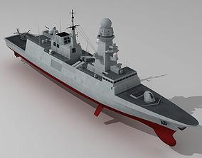 3D model FREMM multipurpose frigate