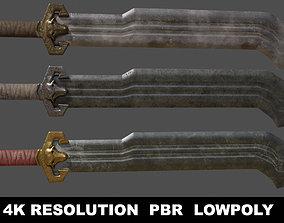 3D asset Dwarven Sword