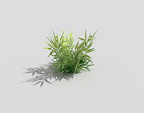low poly grass 3D model low-poly