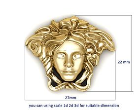 03 Gold Versace Ring or Pendant 3D printable model