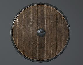 Decorative shield 3D asset