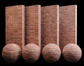 Red Brick Tiles 02 Material PBR 200 x 200 cm 3D model