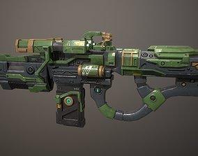 VR / AR ready Low poly sci fi heavy assault impulse gun