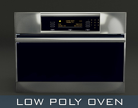 Low Poly Oven 3D asset realtime