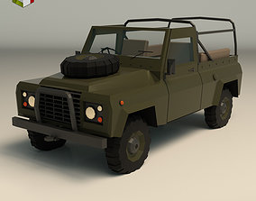 transport Low Poly Military Truck 03 3D model