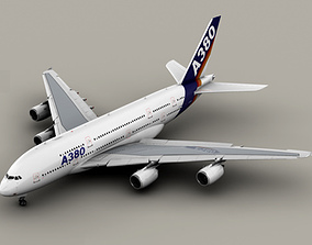 Airbus A380 Old House Colors 3D