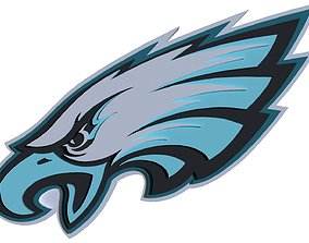 Philadelphia Eagles logo 3D model