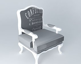 3D model Armchair CLOTHING Maisons du monde