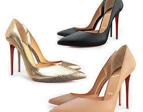 Christian Louboutin Iriza 100mm High Heels 3D