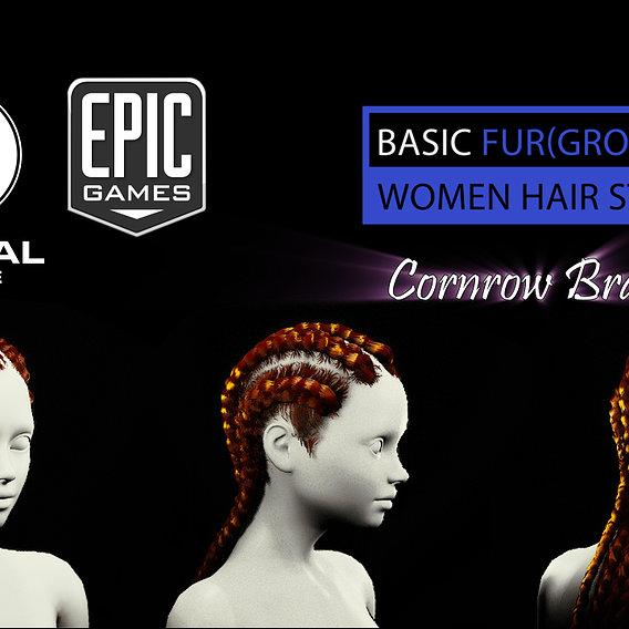 African Groom hair for UE4