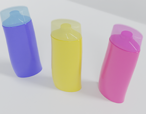 Curved shampoo bottle health-and-beauty 3D printable model