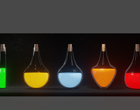 3D asset Basic Alchemy Potion Package
