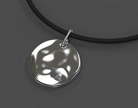 3D print model modern Round aqua pendant