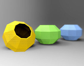 Polygonal container 3D printable model