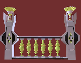Architectural Balustrade - Palace Decor Baroque - 3D model